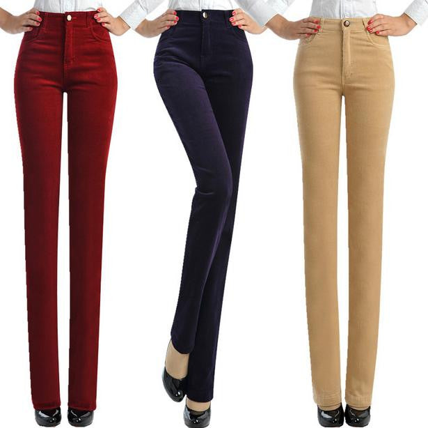 Women Elastic Waist Casual Fashion Pants - All In One Place With Us - 1