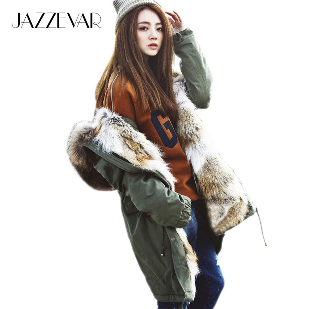 Fashion Women Raccoon Rabbit Fur Coat - All In One Place With Us - 1