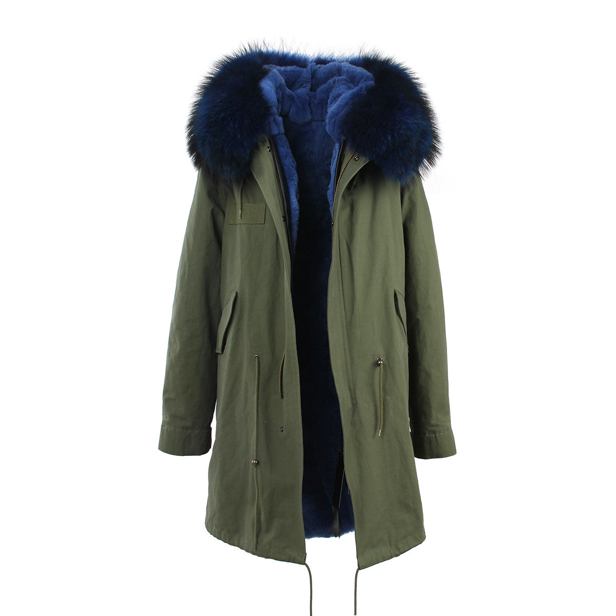 Fashion Women Raccoon Rabbit Fur Coat - All In One Place With Us - 18