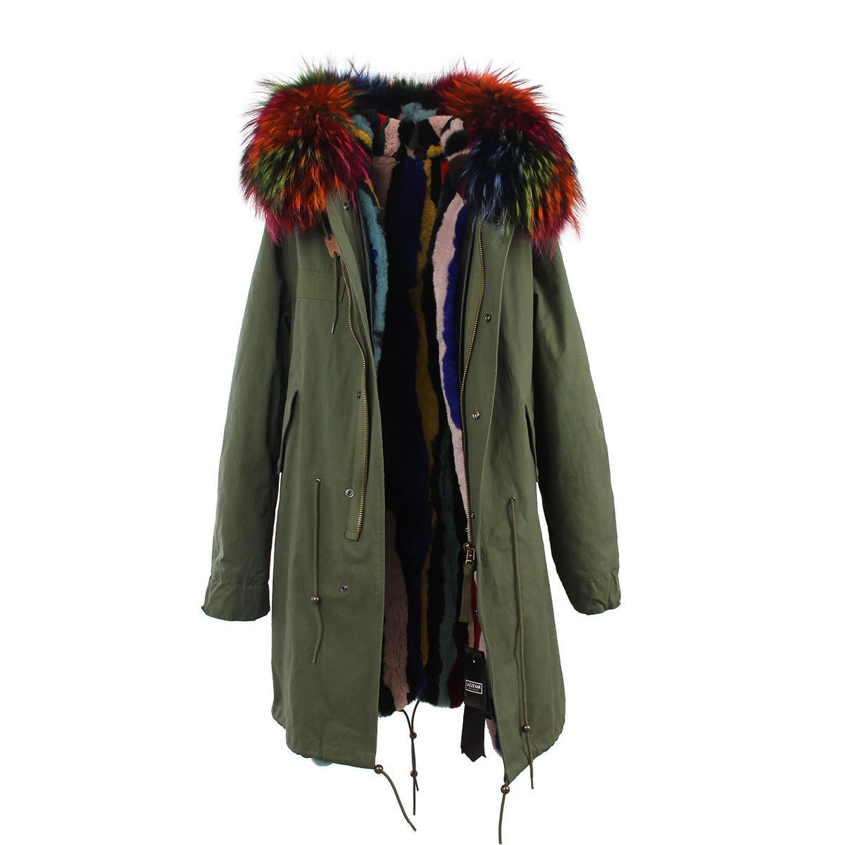Fashion Women Raccoon Rabbit Fur Coat - All In One Place With Us - 17