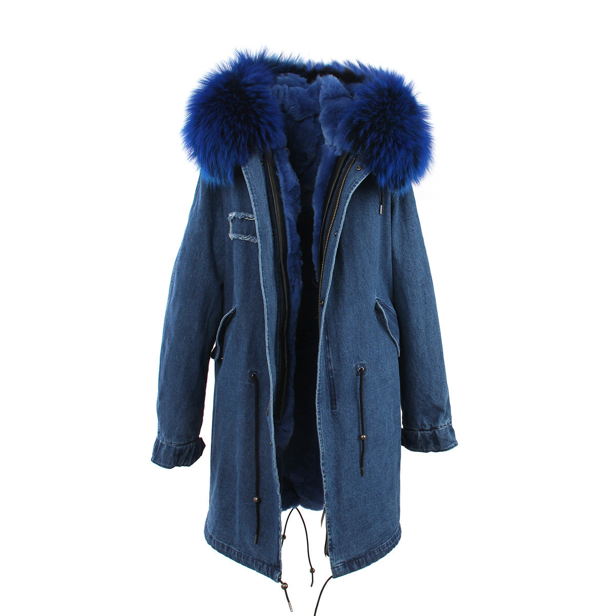 Fashion Women Raccoon Rabbit Fur Coat - All In One Place With Us - 21