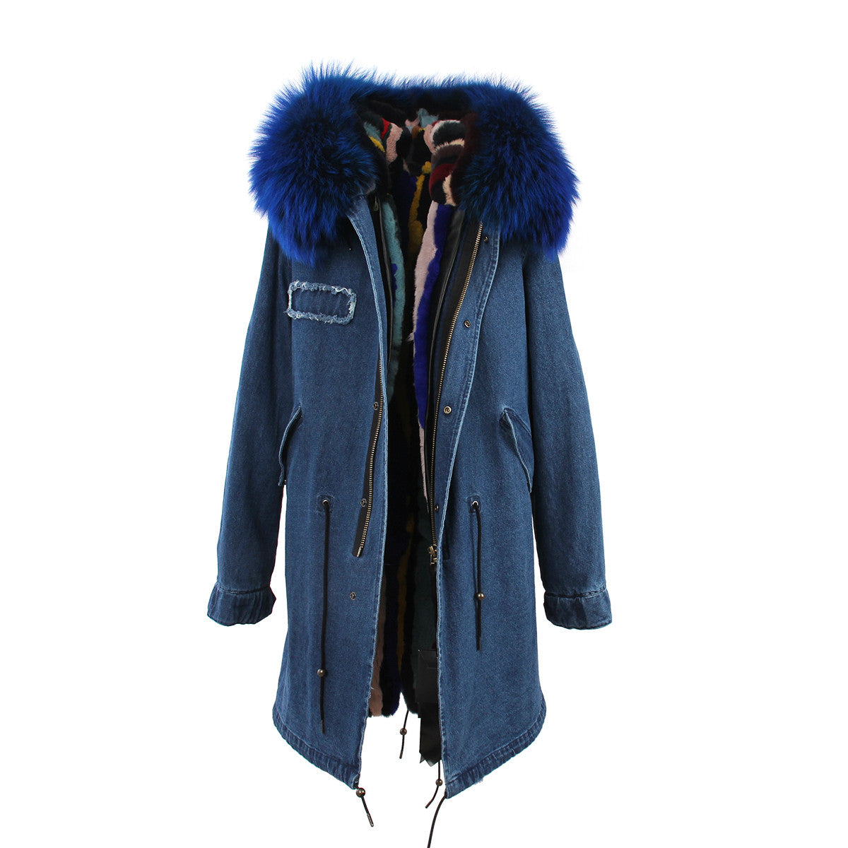 Fashion Women Raccoon Rabbit Fur Coat - All In One Place With Us - 5