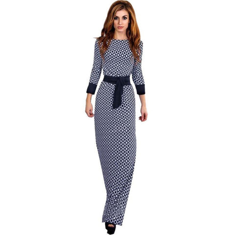 Women Elegant Long Sleeve Dress - All In One Place With Us