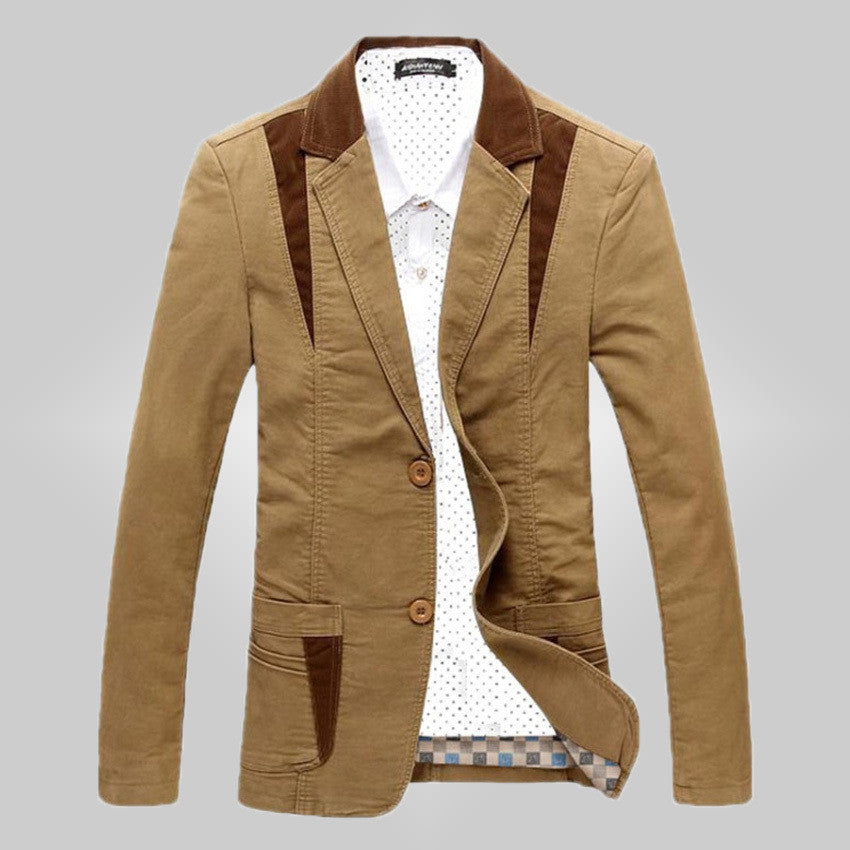new mens casual stylish blazer jacket slim fit males - All In One Place With Us - 1