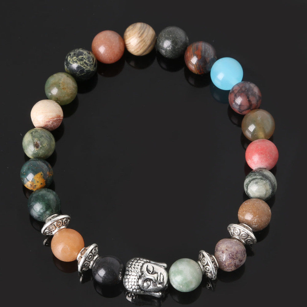 Men's Beaded Buddha Bracelet - All In One Place With Us - 10