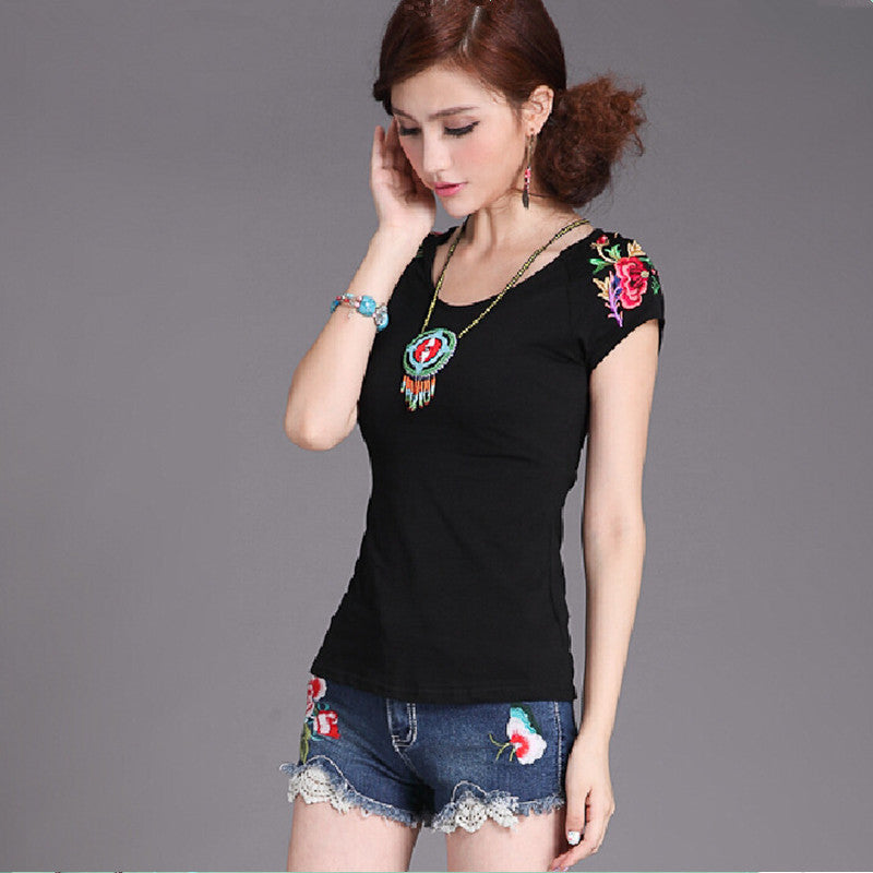 Embroidery Cotton Casual Blouse - All In One Place With Us - 8