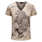 Summer Vintage Short Sleeve V Neck 3d Printed T Shirt - All In One Place With Us - 6