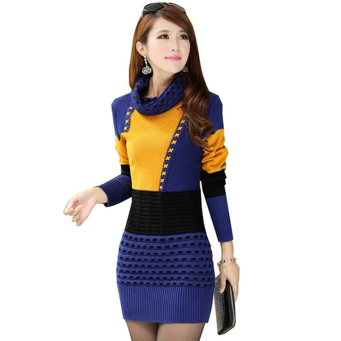 Women Sexy Knitted Sweater Dress - All In One Place With Us - 1