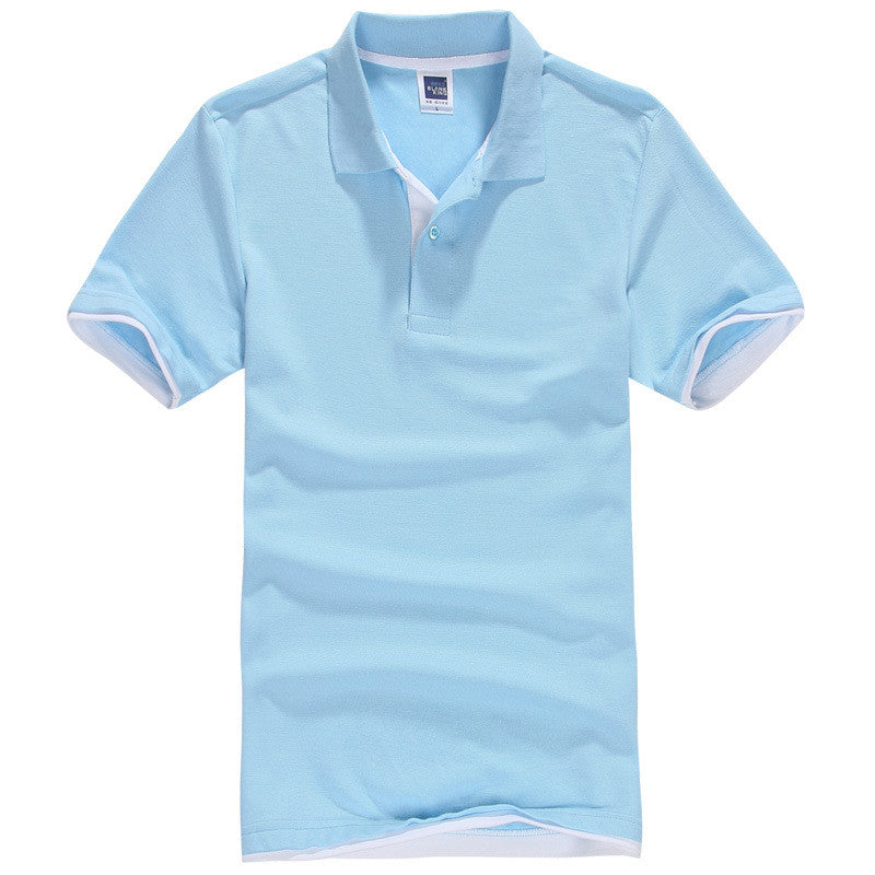 Men's Brand Polo Shirt Sport Cotton Short Sleeve - All In One Place With Us - 1
