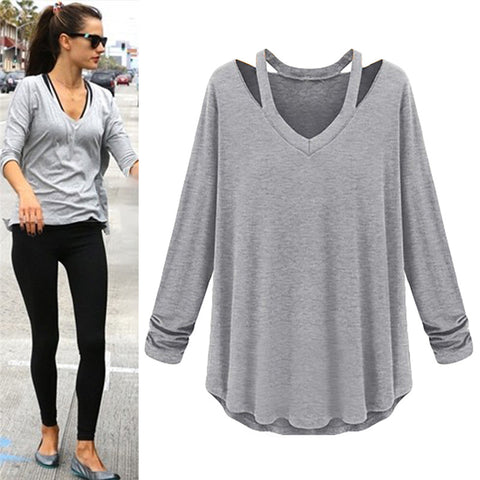 New Spring Autumn Style Thin Section Women's Long-sleeved O-Neck Shirt Blouses Casual Tide Bottoming Shirt - All In One Place With Us - 1