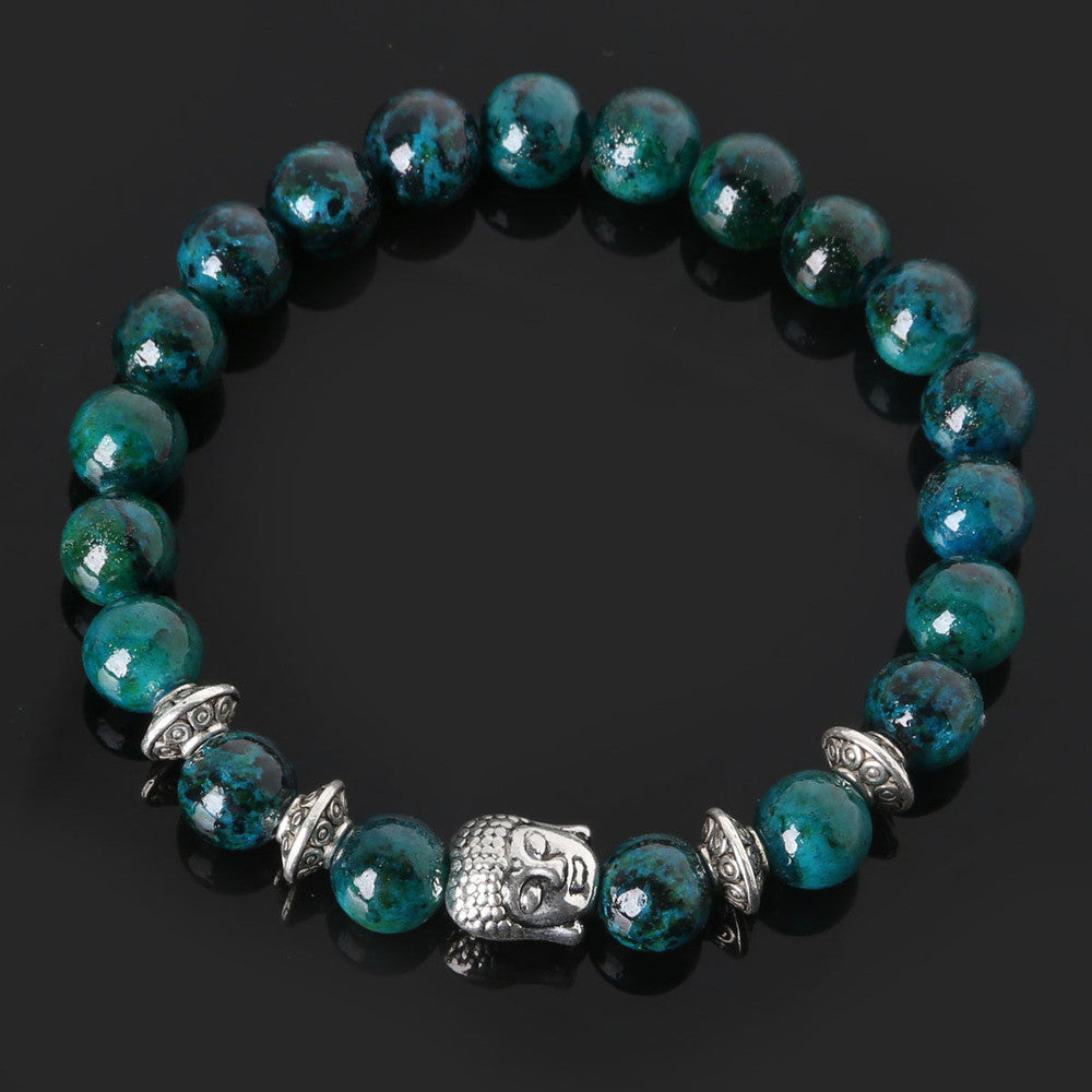 Men's Beaded Buddha Bracelet - All In One Place With Us - 19