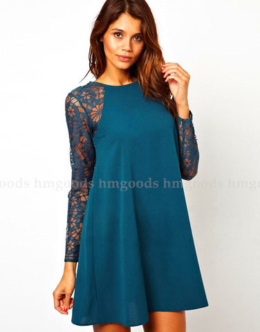 Women Leisure Lace Slim Dress - All In One Place With Us - 1