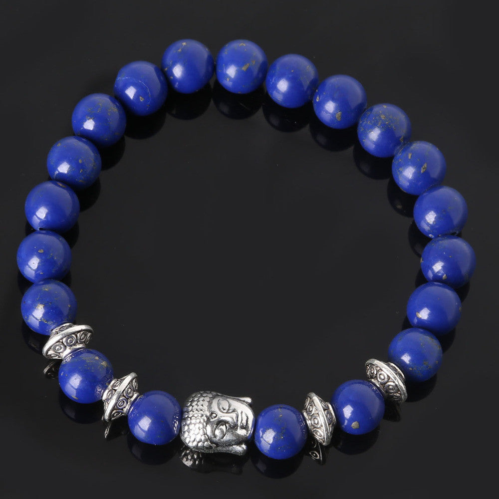Men's Beaded Buddha Bracelet - All In One Place With Us - 7
