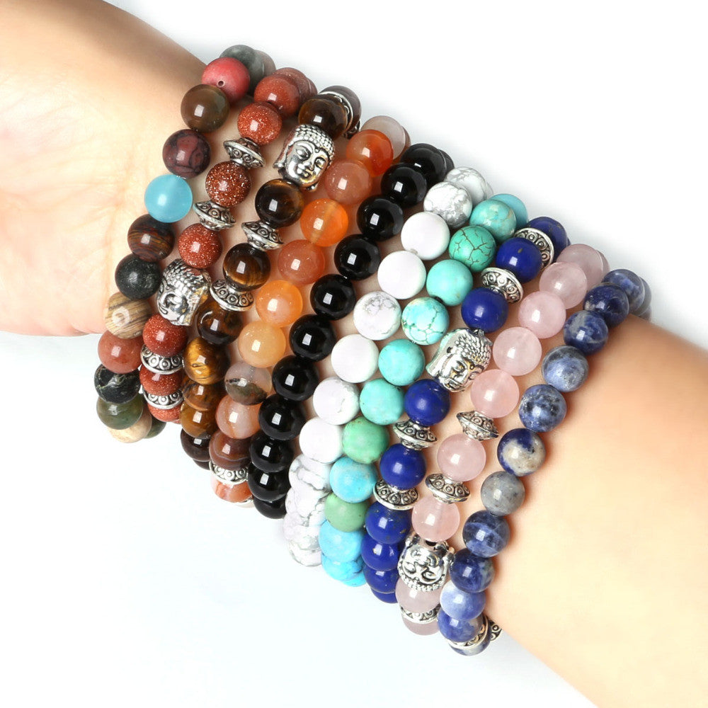 Men's Beaded Buddha Bracelet - All In One Place With Us - 1