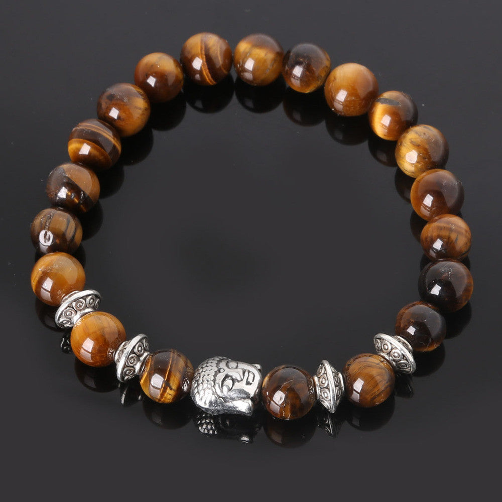 Men's Beaded Buddha Bracelet - All In One Place With Us - 8