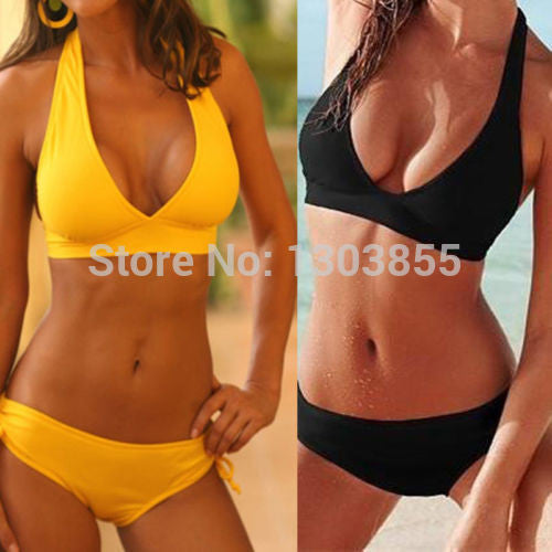 Sexy Bandeau Bikini Top&Bottom Swimwear Swimsuit Bathing - All In One Place With Us - 1