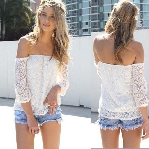 Women Lace Sexy Blouse - All In One Place With Us