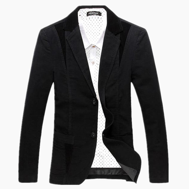 new mens casual stylish blazer jacket slim fit males - All In One Place With Us - 3