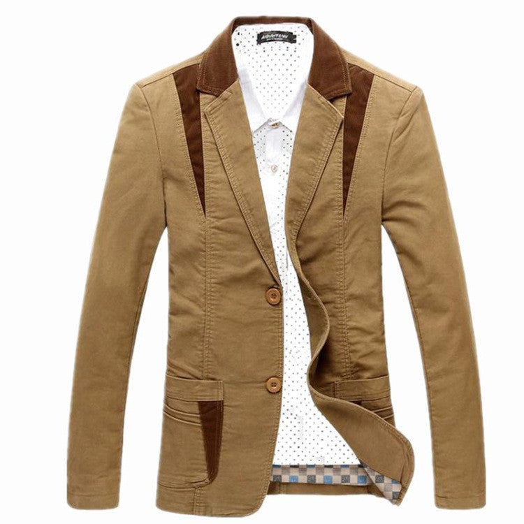 new mens casual stylish blazer jacket slim fit males - All In One Place With Us - 4