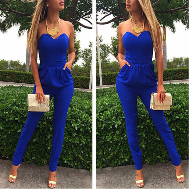 Women Elegant Long Overalls Jumpsuit - All In One Place With Us - 1