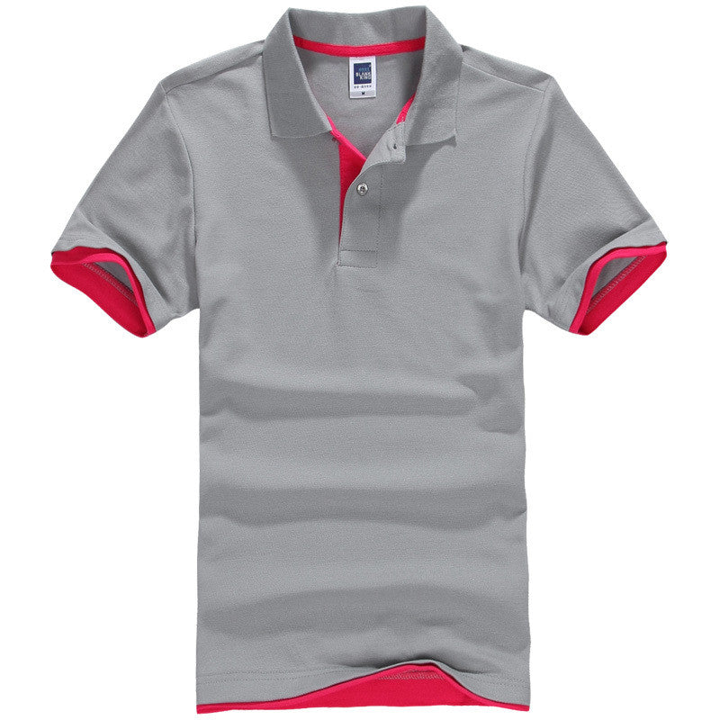Men's Brand Polo Shirt Sport Cotton Short Sleeve - All In One Place With Us - 12