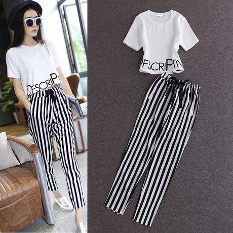 Fashion Women Striped Casual Elegant Sets - All In One Place With Us - 2