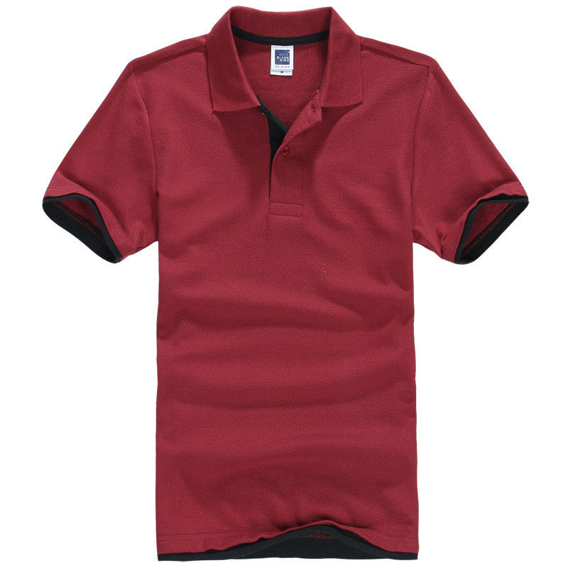Men's Brand Polo Shirt Sport Cotton Short Sleeve - All In One Place With Us - 9