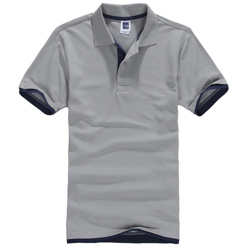 Men's Brand Polo Shirt Sport Cotton Short Sleeve - All In One Place With Us - 13