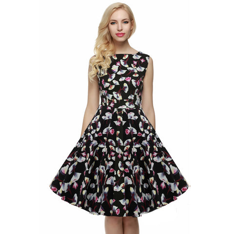 Women Retro Brand Floral Elegant Dress - All In One Place With Us - 12