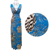 women deep v-neck long beach dress - All In One Place With Us - 9