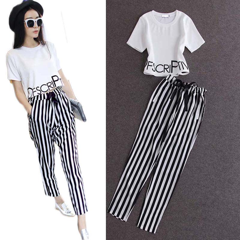 Fashion Women Striped Casual Elegant Sets - All In One Place With Us - 1