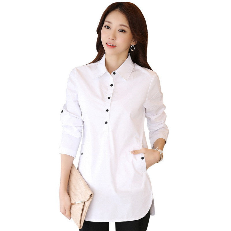 Elegant Blouse White Shirt Women Size S-3XL Ladies Office Shirts - All In One Place With Us - 2