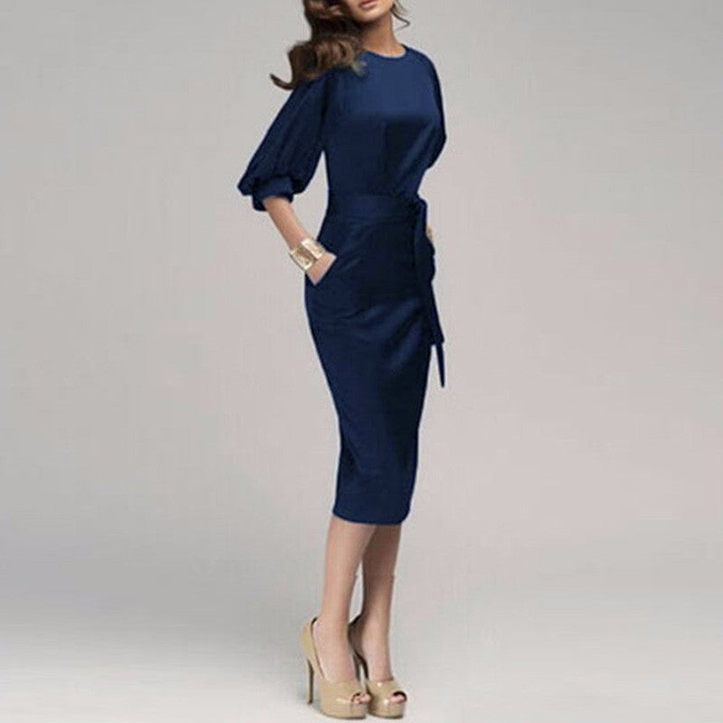 S-5XL Women Spring Autumn Work Dress - All In One Place With Us - 1