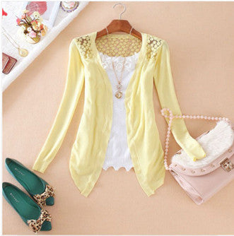 Women Lace Sweet Slim Blouse Cardigan - All In One Place With Us - 5