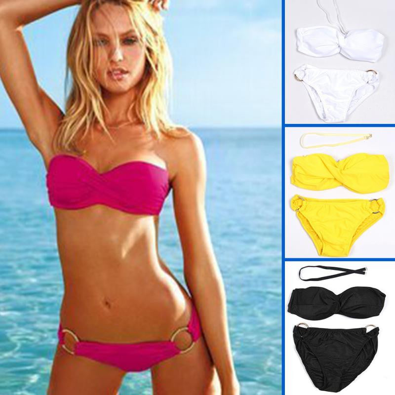Newest Strapless Steel Support Padded Women Swimsuit - All In One Place With Us - 1