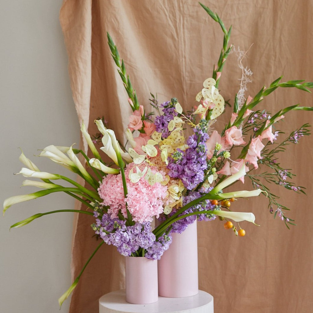 Small Pink Lemonade Vase