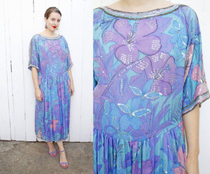 Judith Ann Creations Silk Dress | XL