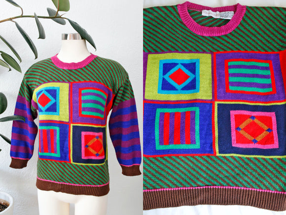 SOLD Christine Foley Patterned Sweater | Medium
