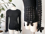 Nannell Black Bow Sweater | Small