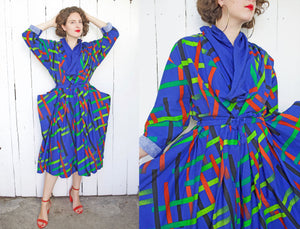 SOLD Issey Miyake Inspired Cotton Handmade Dress M|L