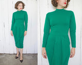 SOLD Martine Sitbon Emerald Green Virgin Wool Dress | Small