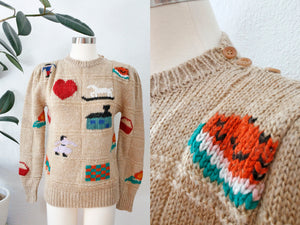 SOLD Cute Novelty Pattern Sweater | Medium