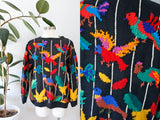 SOLD Mariea Kim Ramie/Cotton Bird Sweater L|XL