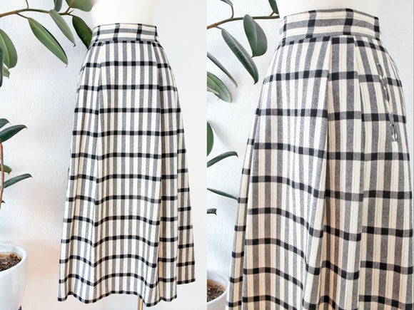 SOLD Evan-Picone Wool Skirt with Pockets | Medium