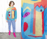 Abstract Face Jeanne Pierre Sweater L|XL