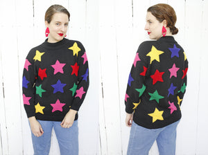 SOLD Nordstrom Colorful Star Sweater | Large