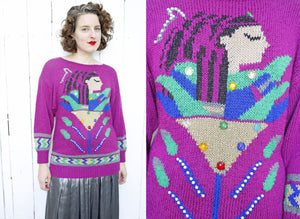 Nannell Hand Knit Cleopatra Sweater | Medium