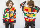 SOLD Chiclet Hand Knit Cardigan Sweater L|XL