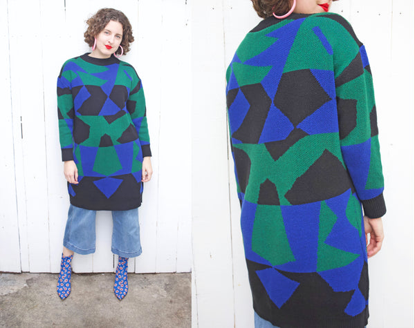 Matisse Inspired Geometric Sweater Dress M|L