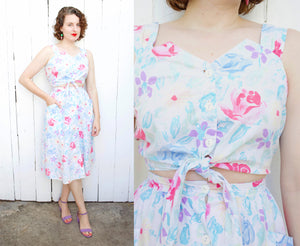 Floral Cotton Sundress | Small